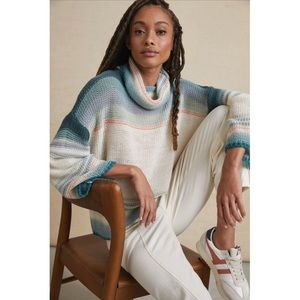 NWOT Anthro Courtney Ombre Cowl Neck Sweater